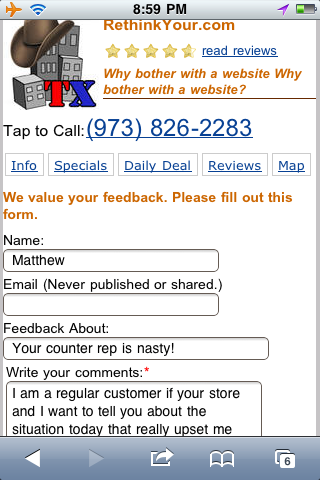 City QR Code Customer Feedback